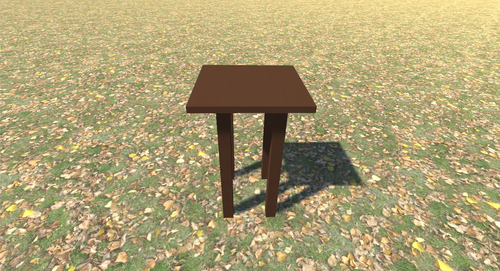 3D Model Stand Wood 1