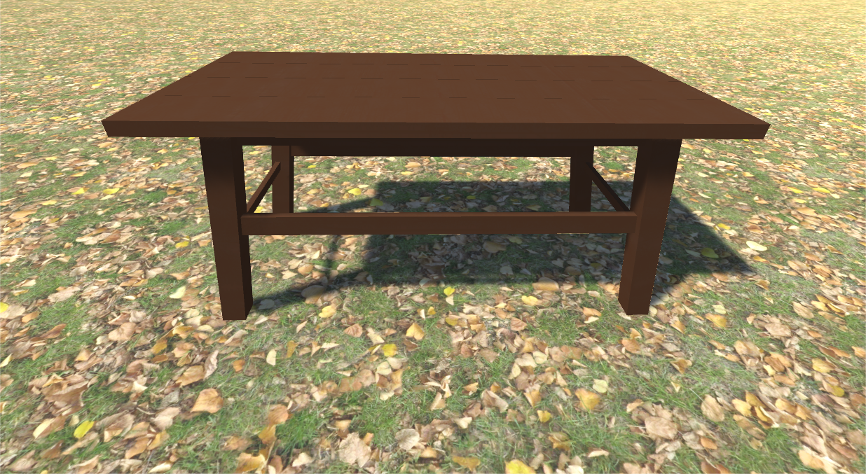 Model Camp Table Wood 1