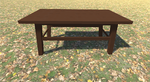 3D Model Camp Table Wood 1