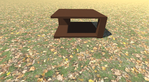 3D Model Modern Table Wood 1